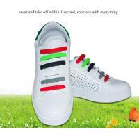 Buy cheap Silicone no tie sport shoelaces customized lazy shoe lace from wholesalers