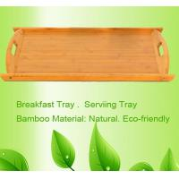 Wholesale bamboo serving tray breakfast tray from china suppliers
