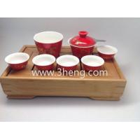 Wholesale Travel Tea Set in a Fancy Bamboo Tea Tray Best Gift from china suppliers