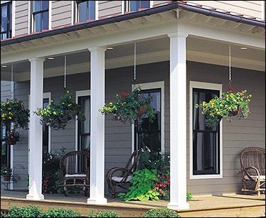 Yellawood pressure treated plain square porch posts of for Square porch columns