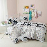 Wholesale Black Temptation Hearts White Princess Bedding Girls Bedding Duvet Cover Set from china suppliers
