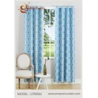 Wholesale Blue Printed Blackout Curtain MODEL # 17P0501 from china suppliers