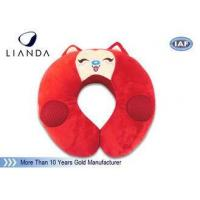 Wholesale Customized Animal Memory Foam Pillows , Soundbox U Shape Pillow With Velvet Cover from china suppliers