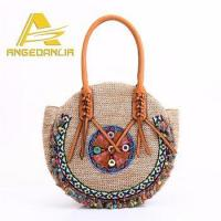 China High Quality 2017 New arrival handbags wholesale summer lady pp beach straw bag on sale