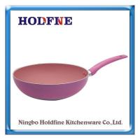 Wholesale Wok Series [HFLC-18] aluminum Non-Stick Wok Pan/Jumbo Cooker Cookware with Lid non-Stick cookware from china suppliers