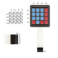 Wholesale 4X4 Matrix 16 Key Matrix PCB Mini Selector Piezo Illuminated LED Membrane Toggle Keypad from china suppliers