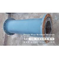 Wholesale cast basalt lined short pipe from china suppliers
