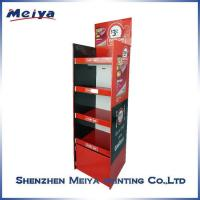 China Unique Customized Four Sides Cardboard Customized Cardboard Display POP Floor Display Stand on sale