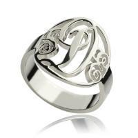 Wholesale Personalized Rings Monogram Initial Sterling Silver from china suppliers