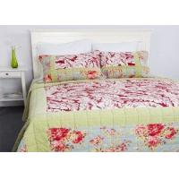 Wholesale Geometric Quilted Patchwork Bedspreads 3 Pcs Cotton Velvet Embroidered from china suppliers