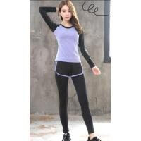 Wholesale Sport suit YG1002-3 Women Yoga Sets T shirts Fake Yoga Pants Fitness Sports Suit from china suppliers