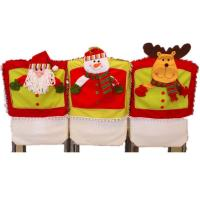 Wholesale Christmas Dinner Chair Decoration Santa Claus Snowman Reindeer 3D Chair Cover from china suppliers