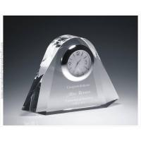 Buy cheap Clocks Engraved Crystal Clock Miami Deco from wholesalers