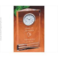 Buy cheap Clocks Engraved 3-Sided Crystal Clock Trigon from wholesalers