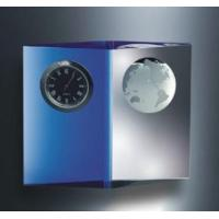 Buy cheap Clocks Engraved Crystal and Blue Planet Clock 4inches H from wholesalers