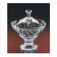 Buy cheap Candy Dishes Engraved Pedestal Crystal Candy Dish Laurus from wholesalers