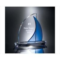 Buy cheap Awards Engraved Crystal Sailboat with Blue Sail from wholesalers