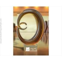 Buy cheap Amber Moon Art Sculpture with Custom Engraved Clear from wholesalers