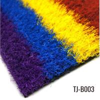 Colored 25mm Durable Playground Grass Perfect Grass