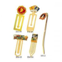 Wholesale Metal Promotional Gifts Customized Logo Glued On Standard Bookmark Fittings from china suppliers