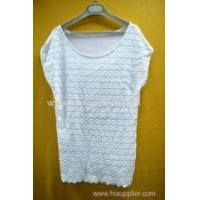 Wholesale 100%cotton women's lace T-shirt from china suppliers
