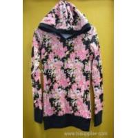 Wholesale Ladies' 20%cotton 80%polyester women's hood longer leisure wear from china suppliers
