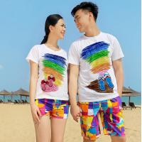 Wholesale Plus Size Custom Water Printed White Couple T Shirts Family Matching Clothing from china suppliers