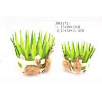 Wholesale grass shape with rabbits fabric basket JOL17A11 from china suppliers