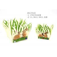 Wholesale felt grass shape basket for easter decoration JOL17A10 from china suppliers