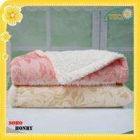 China TEXTILES 100% Polyester Printed Mink Sherpa Blanket on sale