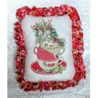 Wholesale Christmas Tea Cups Accent Pillow from china suppliers