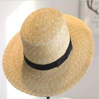 Women Straw Sun Beach Fashion Hats with Bownot for Lady