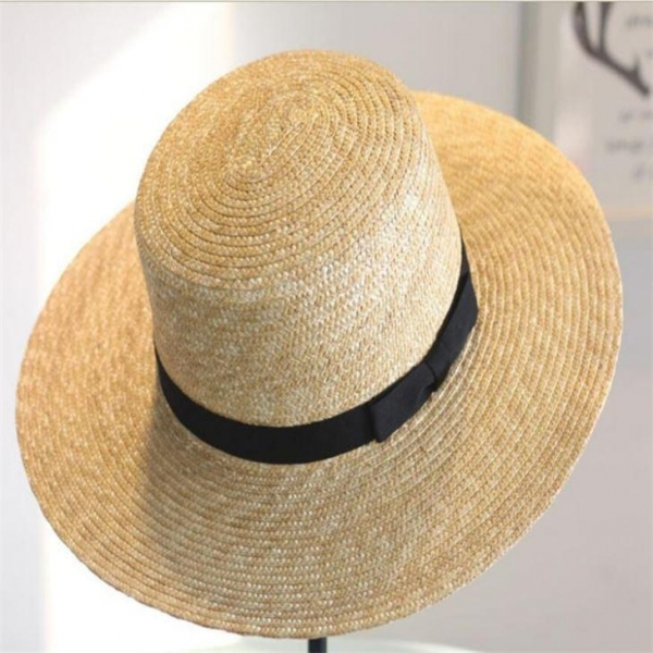 China Women Straw Sun Beach Fashion Hats with Bownot for Lady