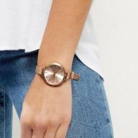 China Women's Rose Gold Dial And Mesh Strap Watch on sale