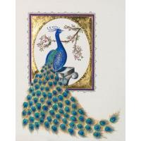 Wholesale Gilded Peacock Greeting Card with Swarovski Crystals Limited Edition Signature from china suppliers