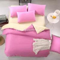 Wholesale Solid colour bedsheet sets Comfortable Microfibre Polyester Solid Bedding Quilt Cover Set from china suppliers