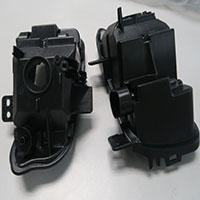 Automotive plastic part light support