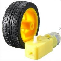 Wholesale Plastic Tire Wheel With DC 3-6v Gear Motor For Arduino Smart Car from china suppliers