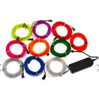 Buy cheap 5M Led Flexible EL Light 12V with battery holder from wholesalers