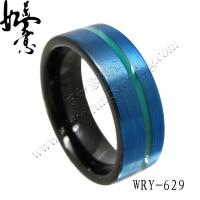 Wholesale New Tungsten Rings blue and green Tungsten Carbide Ring from china suppliers