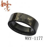 Wholesale Black Tungsten Rings Wold Map Tungsten Carbide Ring WRY-1177 from china suppliers
