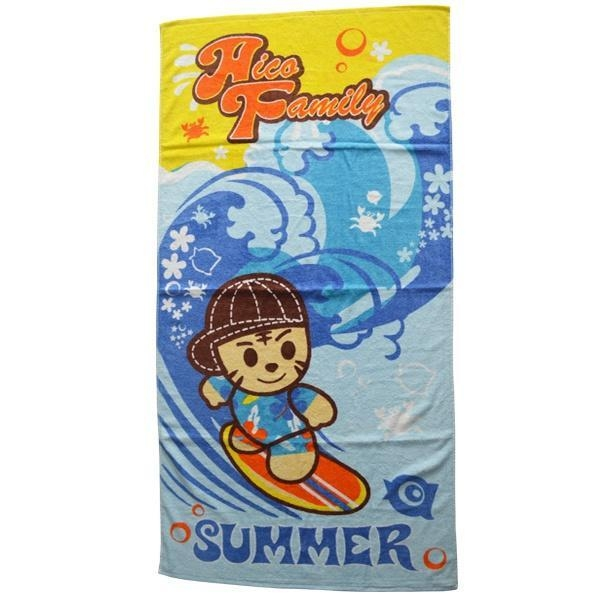 Pomotional Beer Brand Name Cotton Velour Printed Beach