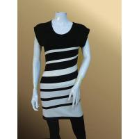 lh33 Striped Slimfit Tunic Lady Long Pullover