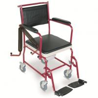 Wholesale #JL692  Commode Wheelchair With Flip Down Armrests & Detachable Footrests from china suppliers