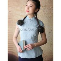 Wholesale Improved Chinese Style Cotton Blouse from china suppliers