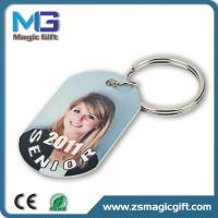 Unique printing photo dogtag keychain