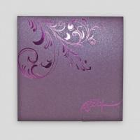 Wholesale XMT-C036 purple foil stamping greeting card & envelope printing from china suppliers