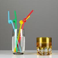 Wholesale No.:71039 50pcs/pack individual oppfilm wrapped colored artistic drinking straws from china suppliers