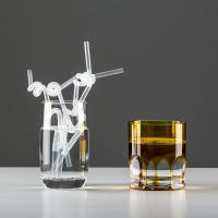 Wholesale No.:71030-3 100pcs/pack clear double bending artistic drinking straws from china suppliers