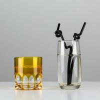 Wholesale No.:71030-2 100pcs/pack black double bending artistic drinking straws from china suppliers